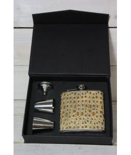 2-dielny set v darčekovej krabici - hnedý motív