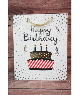 "Darčeková taška ""Happy Birthday"" - torta (26x32x12 cm)"