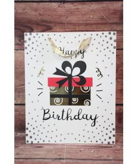 """Darčeková taška """"Happy Birthday"""" - darček (26x32x12 cm)"""