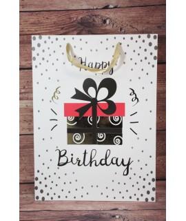 """Darčeková taška """"Happy Birthday"""" - darček (31x42x12 cm)"""