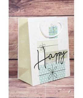 """Darčeková taška """"HAPPY BIRTHDAY"""" (18x23x10 cm)"""