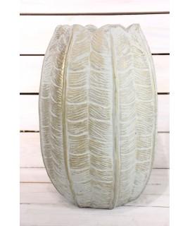 Betónová váza KAKTUS - zlato-tyrkysová (v. 38 cm)