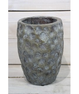 Betónová váza - sivá (v. 19,5 cm )