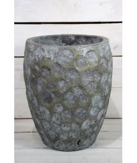 Betónová váza - sivá (v. 28 cm )