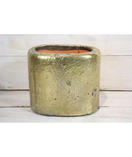 Betónová váza - zlatá (v. 15 cm)