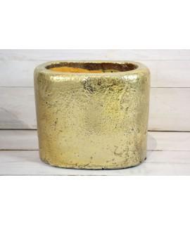 Betónová váza - zlatá (v. 18 cm)