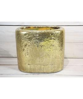Betónová váza - zlatá (v. 22 cm)