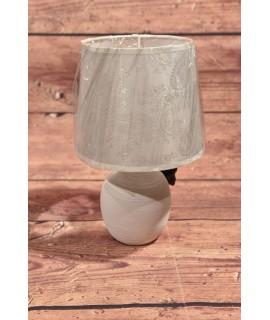 Keramická stolná lampa - biela (18x30x18 cm)