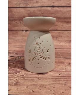 Porcelánová aromalampa so snehuliakom - biela (v. 13,5, p. 8,5 cm)