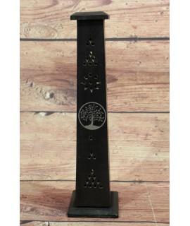 Drevená veža na vonné tyčinky - čierna (v. 30,5, p. 7,5 cm )