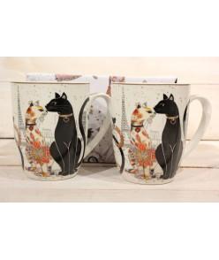 2 šálky (CAT COLLECTION) v darčekovej krabici - mačky