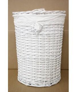 Prútený kôš na prádlo - biely (v. 59 cm, p. 44 cm)