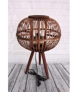 Bambusová lampa- tmavohnedý (v. 50cm, p. 35 cm) E27 220-240V, max 60W