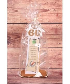6 štampedlíkov na drevenom stojane k 60. narodeninám (16x30 cm)
