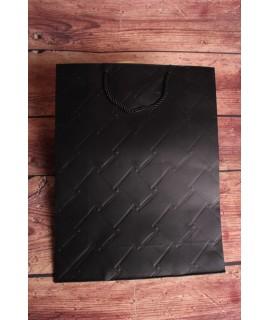 Darčeková taška -čierna (31x42x12cm)
