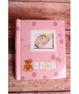 """Fotoalbum """"Baby"""" - ružový - 10x15-40ks, 13x18-40ks, 15x21-20ks (20str.)"""