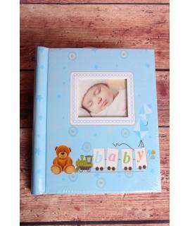 "Fotoalbum ""Baby"" - modrý - 10x15-40ks, 13x18-40ks, 15x21-20ks (20str.)"