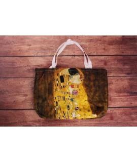 Bavlnená taška Klimt Kiss (43x30x8 cm)