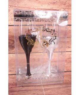 Svadobné sklenené poháre 3. (v. 27cm)