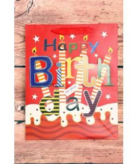 "Darčeková taška ""Make a wish Happy birthday to you"" (25,5x31,5x10)"