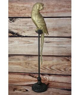 Dekorácia na podstavci - Papagáj (v. 65cm)