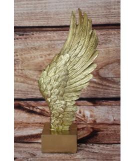 Dekorácia na podstavci - Krídlo - zlaté (v. 25cm)