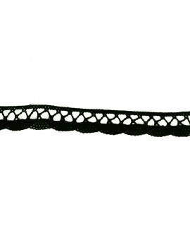 Čierna cvernová čipka š.1,80 cm - (m)