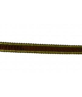 Flitrový pásik hnedý so zlatým okrajom (m) - š.1 cm
