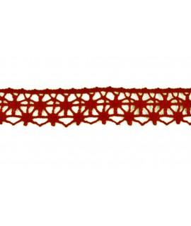Červená široká krajka (m) - š.2 cm