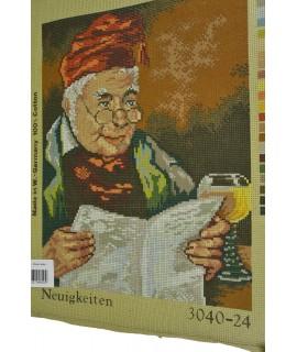 Gobelín - čítajúci dedko