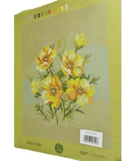 Gobelín - žlté kvety