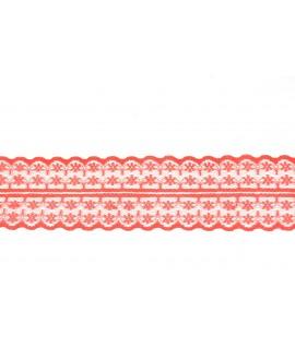 Čipka FANTASTIC - červená (š. 4,5 cm)