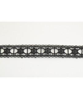 Krajka - čierna (š. 2,5 cm)