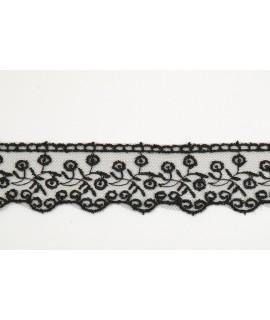 Krajka - čierna (š. 4 cm)