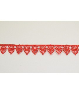 Krajka - červená (š. 2 cm)