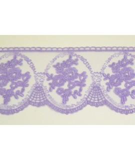 Krajka - fialová (š. 10 cm)