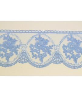 Krajka - modrá (š. 10 cm)