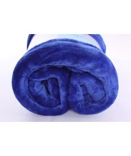 Deka flísová (150x200 cm) - slivkovo modrá
