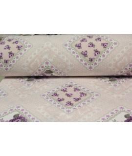 Bavlnená látka (š. 240 cm) - ružovo-fialová  VZOR 15.