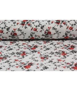 Bavlnená látka (š. 240 cm) - červeno-biela VZOR 17.