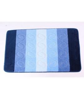 koberec do kúpeľne (60x100 cm) - vzorovaný-modrý