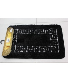 Kúpeľňová dvojdielna súprava SENTEZ-SIMSIZ-GREEK KEY 42 - čierna (50x80 cm)