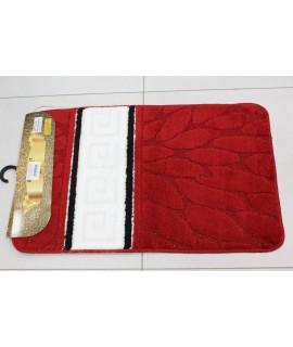 Kúpeľňová dvojdielna súprava SYMBOL-STRIPE-GREEK BEAM 37 - červeno-biela (50x80 cm)