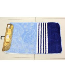 Kúpeľňová dvojdielna súprava SYMBOL-STRIPE-AKVARYYM 19 - bledomodrá (50x80 cm)