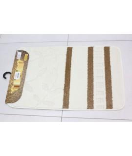 Kúpeľňová dvojdielna súprava SYMBOL-STRIPE-FLORIDA - vanilková (50x80 cm)