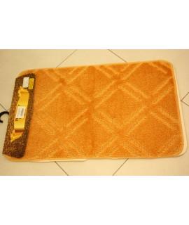 Kúpeľňová trojdielna súprava SYMBOL-STRIPE-MARLO (50x80 cm) - oranžová