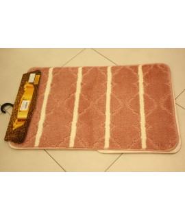 Kúpeľňová trojdielna súprava SYMBOL-STRIPE-HERA (50x80 cm) - bielo-ružová