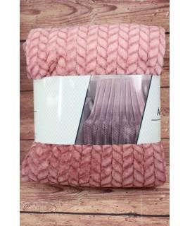 Deka dúhová s potlačeným vzorom SENDIA (150x200 cm) - ružová