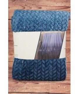 Deka dúhová s potlačeným vzorom SENDIA (150x200 cm) - modrá