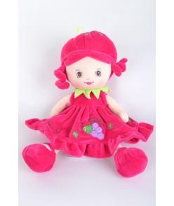 """Plyšová bábika """"JAHODKA"""" cyklámenová (v. 36 cm)"""